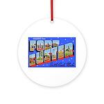 Fort Custer Michigan Ornament (Round)