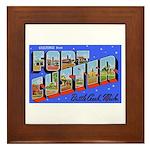 Fort Custer Michigan Framed Tile