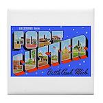 Fort Custer Michigan Tile Coaster