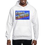 Fort Custer Michigan (Front) Hooded Sweatshirt