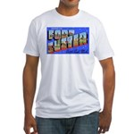 Fort Custer Michigan (Front) Fitted T-Shirt