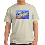 Fort Custer Michigan (Front) Ash Grey T-Shirt