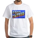 Fort Custer Michigan (Front) White T-Shirt