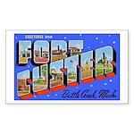 Fort Custer Michigan Rectangle Sticker