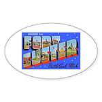 Fort Custer Michigan Oval Sticker