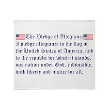 The Pledge of Allegiance Throw Blanket