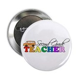 Second Grade Teacher Button