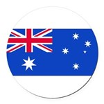 Australiablank.jpg Round Car Magnet