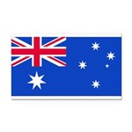 Australiablank.jpg Rectangle Car Magnet