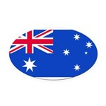 Australiablank.jpg Oval Car Magnet