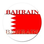 Bahrainblack.png Round Car Magnet