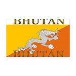 Bhutan.jpg Rectangle Car Magnet