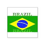 Brazilblack.png Square Sticker 3