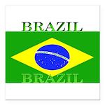 Brazilblack.png Square Car Magnet 3