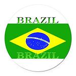 Brazilblack.png Round Car Magnet