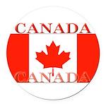 Canada.jpg Round Car Magnet