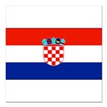 Croatiablankblack.png Square Car Magnet 3