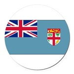 Fijiblank.png Round Car Magnet