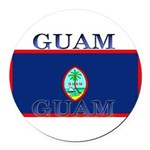 Guam.jpg Round Car Magnet