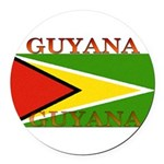 Guyana.jpg Round Car Magnet