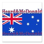 HeardMcDonald.png Square Car Magnet 3