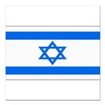 Israel black blank.png Square Car Magnet 3