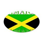 Jamaica.jpg Oval Car Magnet