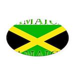 Jamaica.jpg Oval Car Magnet