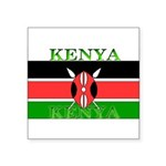 Kenyablack.png Square Sticker 3
