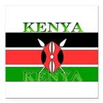 Kenyablack.png Square Car Magnet 3