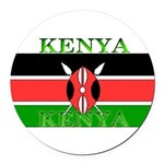 Kenyablack.png Round Car Magnet