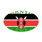 Kenyablack.png Oval Car Magnet