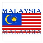 Malaysia.png Square Car Magnet 3