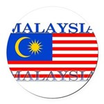 Malaysia.png Round Car Magnet