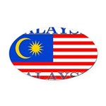 Malaysia.png Oval Car Magnet