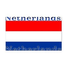 Netherlandsblack.png Rectangle Car Magnet