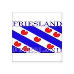 Frieslandblack.png Square Sticker 3