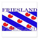 Frieslandblack.png Square Car Magnet 3