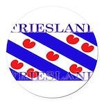 Frieslandblack.png Round Car Magnet