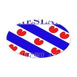 Frieslandblack.png Oval Car Magnet