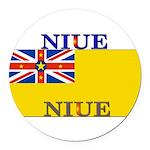 Niue.jpg Round Car Magnet