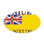 Niue.jpg Oval Car Magnet