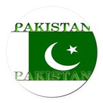 Pakistan.jpg Round Car Magnet
