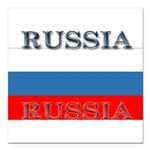 Russiablack1.png Square Car Magnet 3