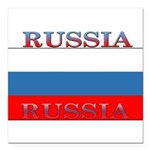 Russianew.png Square Car Magnet 3