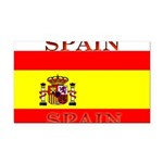 Spainblack.png Rectangle Car Magnet
