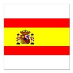 Spainblackblank.png Square Car Magnet 3