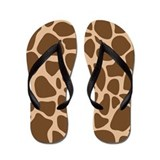 Giraffe Print Animal Flip Flops