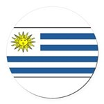 Uruguayblank.png Round Car Magnet