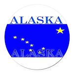 Alaska.png Round Car Magnet
